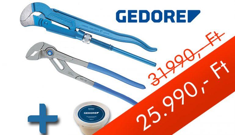 Gedore fogókészlet 2 részes + ajándék 500ml kéztisztító